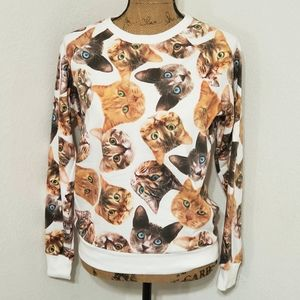 Freeze•real picture kitty cat heads•l/s•l👀k!